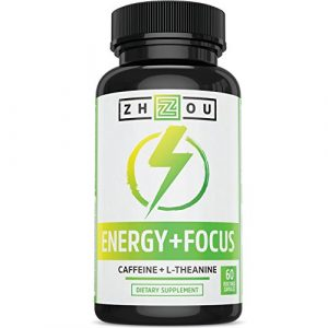 Caffeine with L-Theanine for Smooth Energy & Focus - Focused Energy for Your Mind & Body - No Crash ▫ No Jitters ▫ All Natural - #1 Nootropic Stack for Cognitive Performance - Veggie Capsules