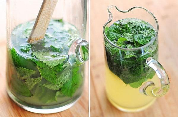 stress lemon balm tea